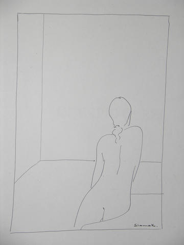 Study - Nude Looking out the Window