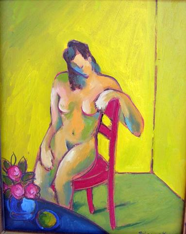 The Lady in the Red Chair
